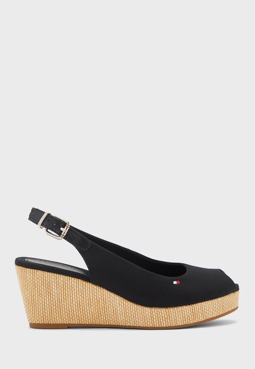 Iconic Elba Sling Back Wedge Pump