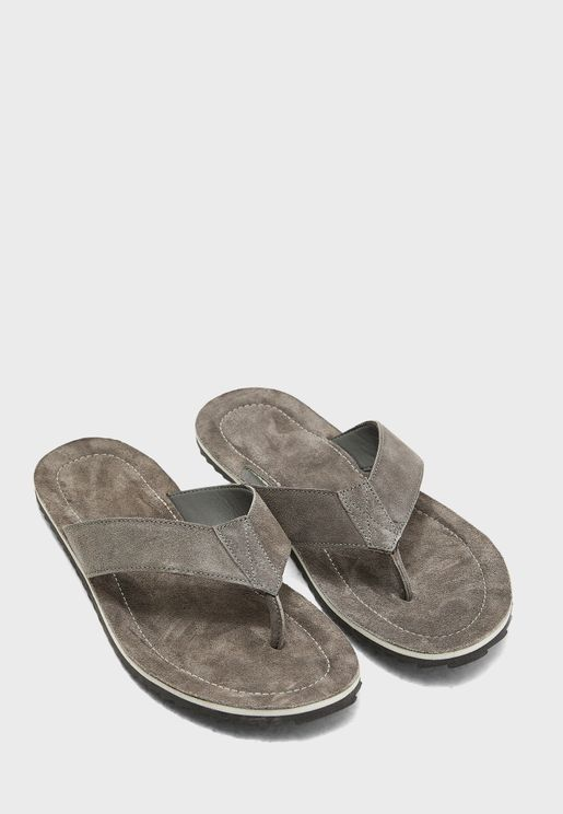 Genuine Leather Thong Sandals