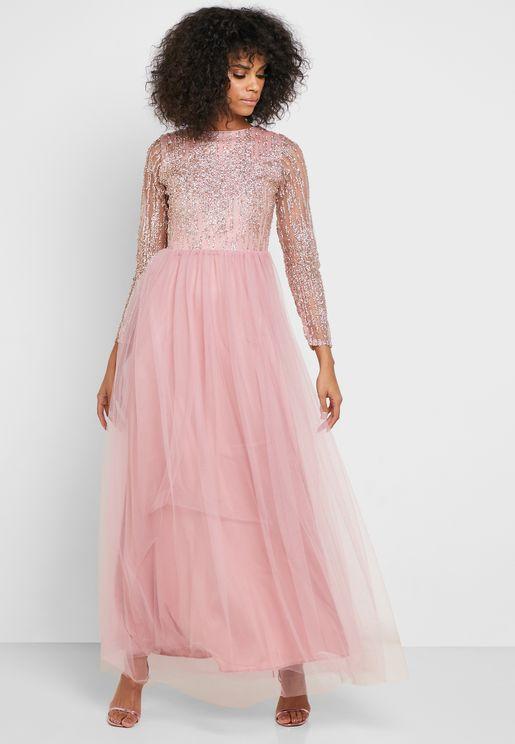 فستان دانتيل مبطن