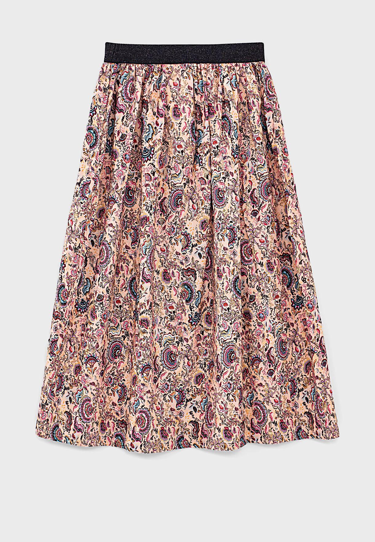 Kids Paisley Print Skirt