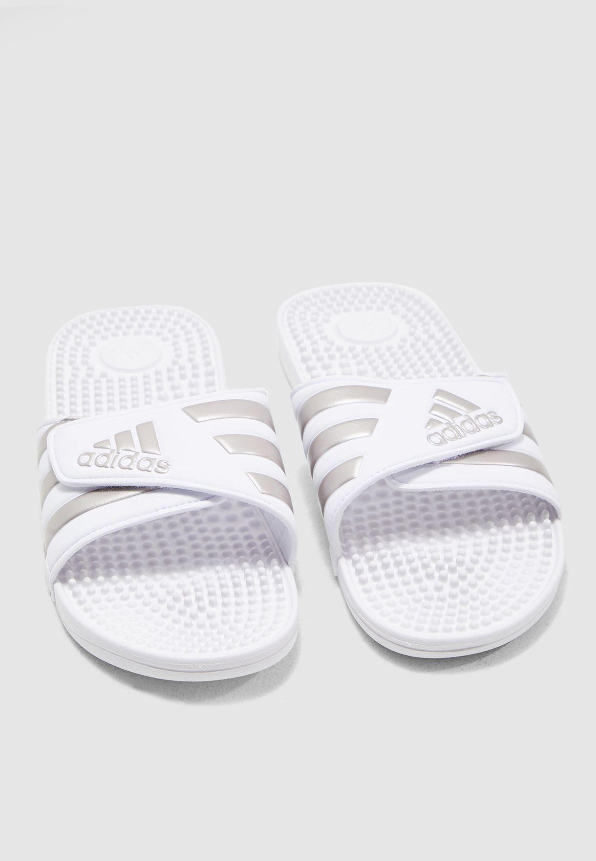 764295f80a06 Shop adidas white Adissage Slides F35576 for Men in UAE - 14448SH65DQP