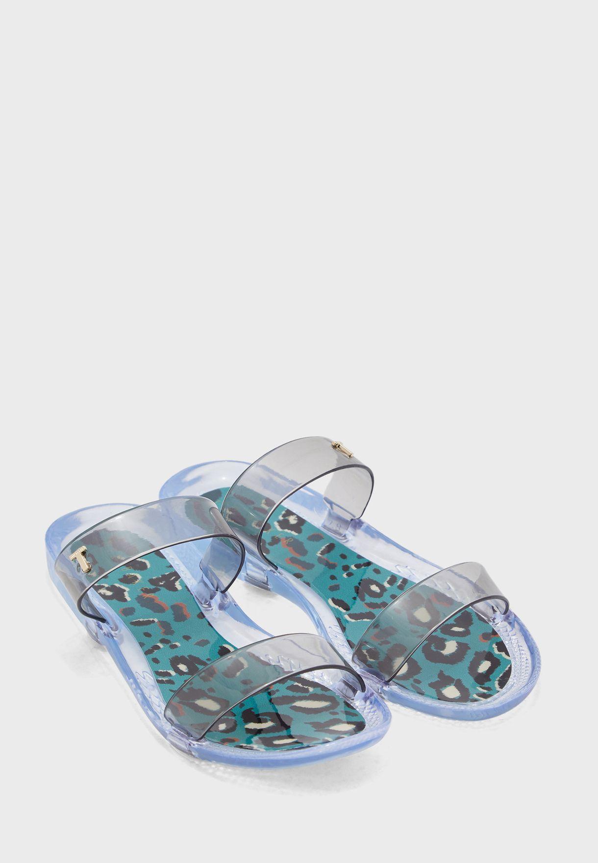 Jelley Printed Flat Sandals