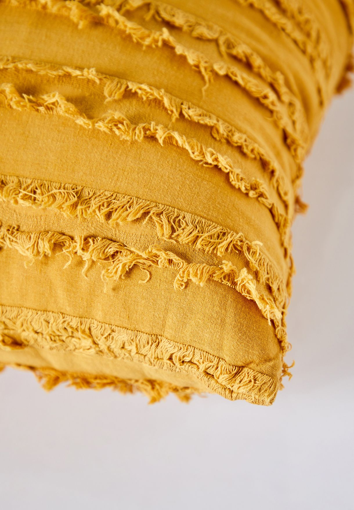 Ruffle Mustard Cushion