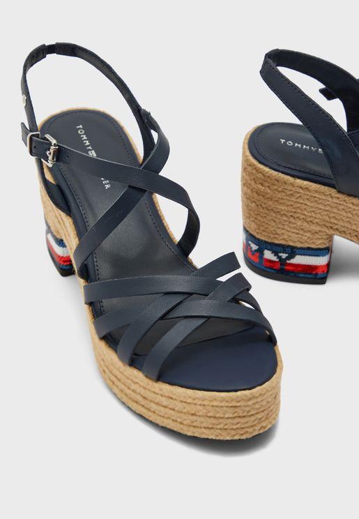 Tommy Sequins Mid Heel Sandal - DB9
