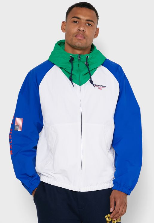 Colourblock Zip Through Hoodie