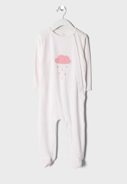 Infant Embroidered Cloud Onesie