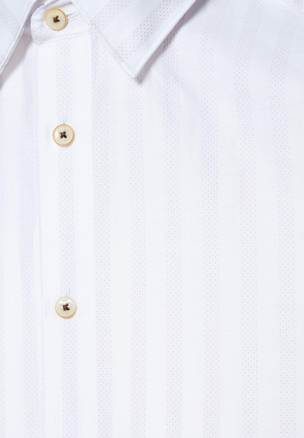 Dotted Stripe Slim Fit Shirt