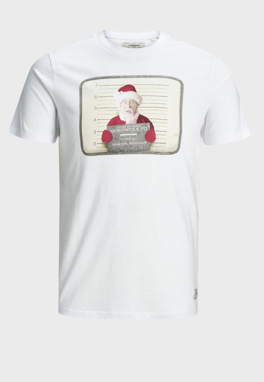 Claus Christmas Crew Neck T-Shirt