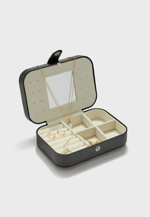 Jewellery Case With Jewellery Set