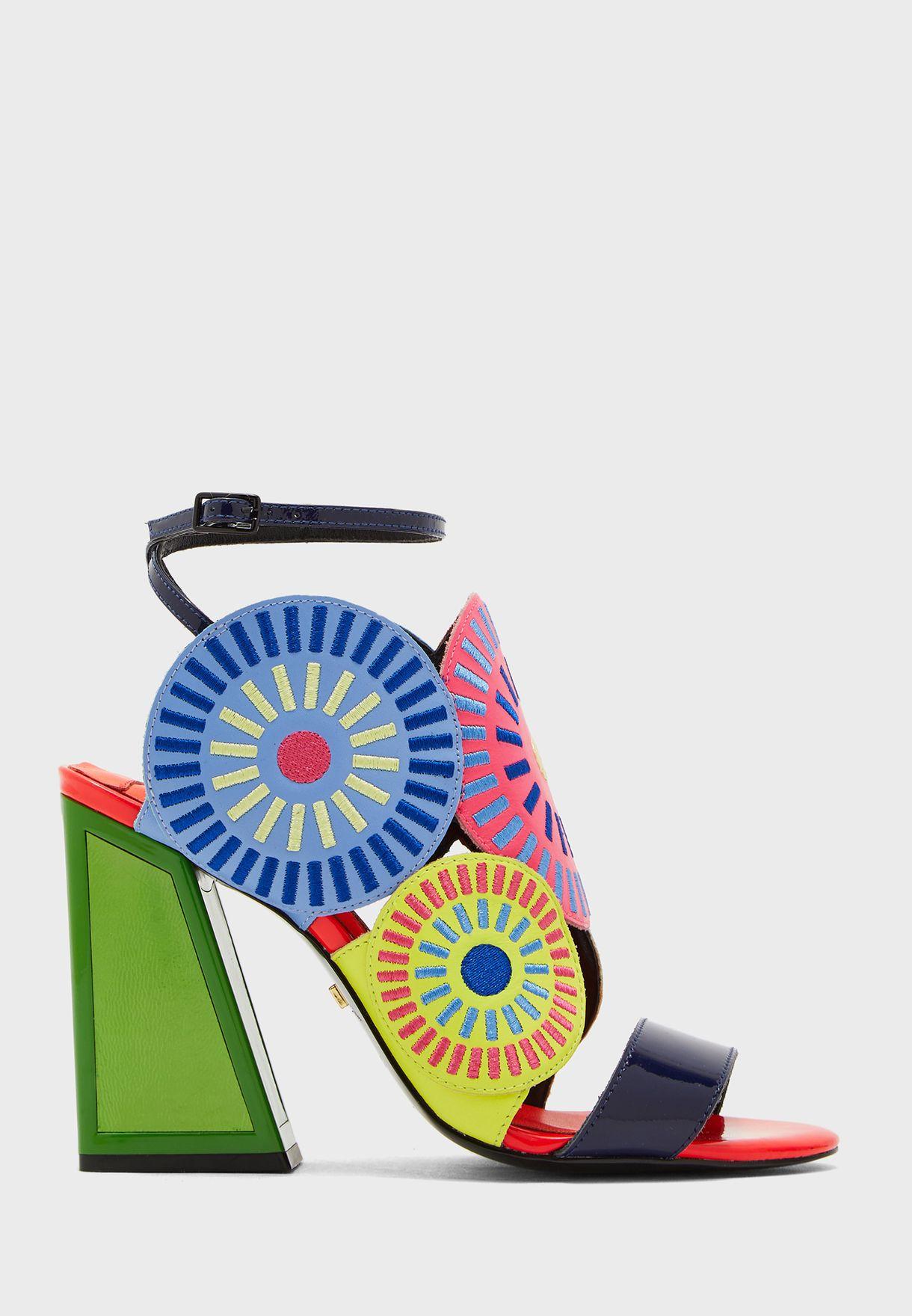 Frida Ankle Strap Block Heel Sandal