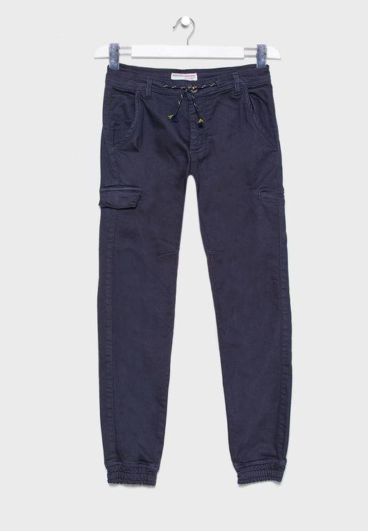 Teen Tie Waist Jogg Jeans