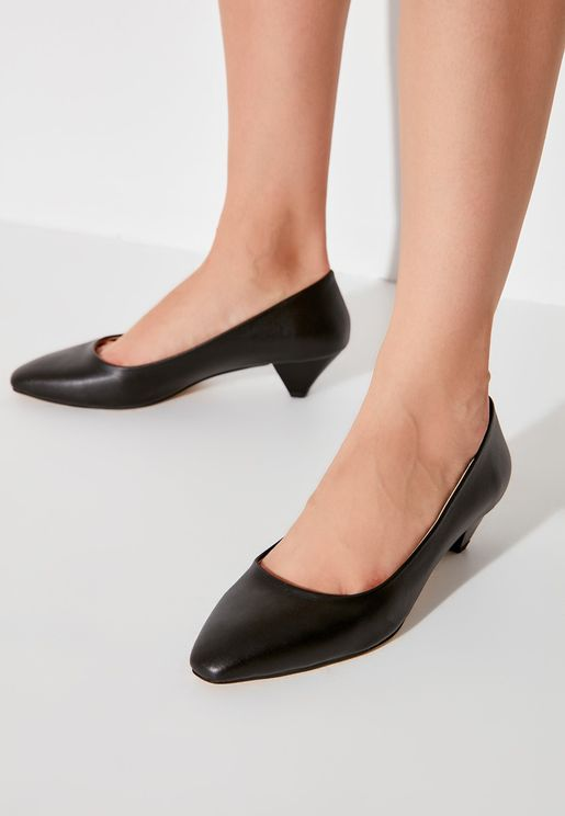 Tapered Heel Casual Pump
