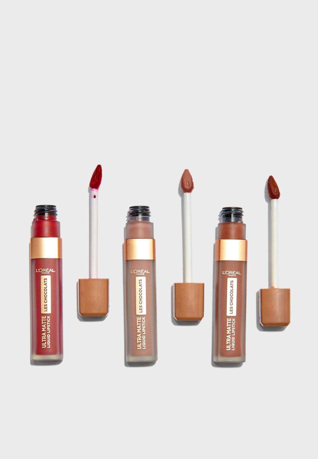 3 Pack  Chocolate Lipsticks Set