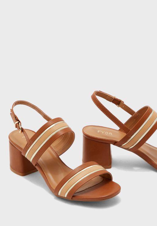 Slingback Block Heel Sandal
