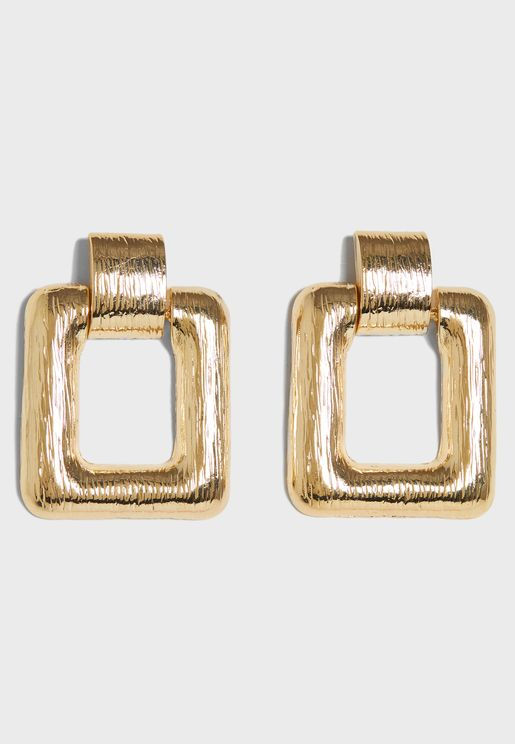 Oversized Square Earrings