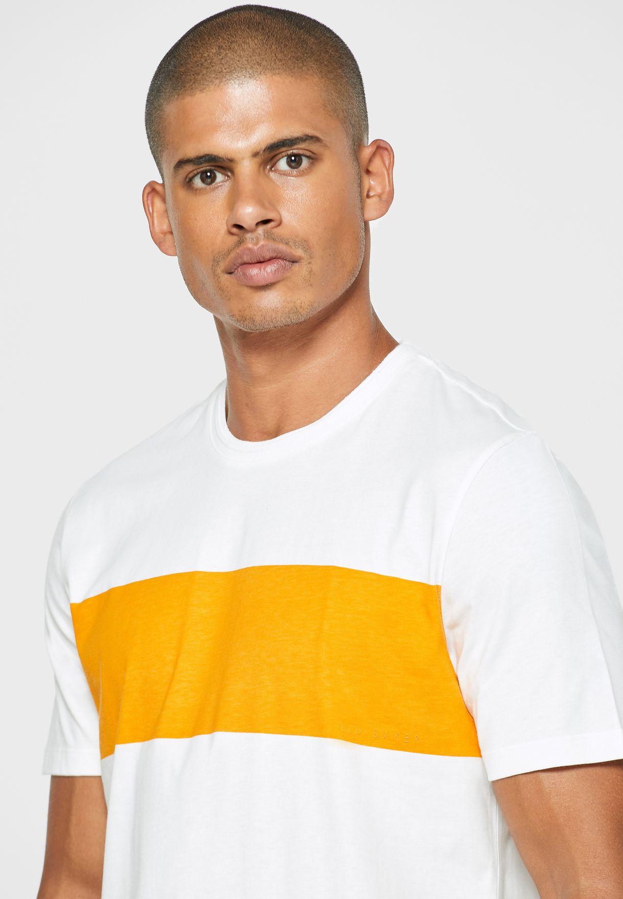 Color Block Crew Neck T-Shirt