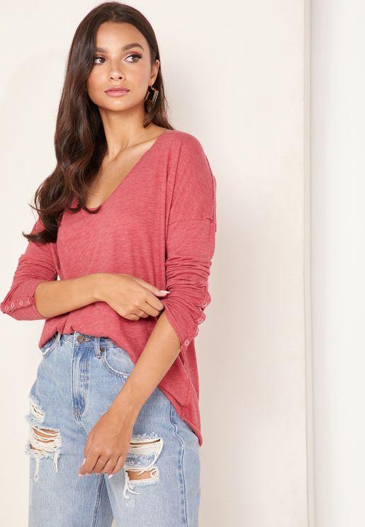 Sienna Button Cuff T-Shirt