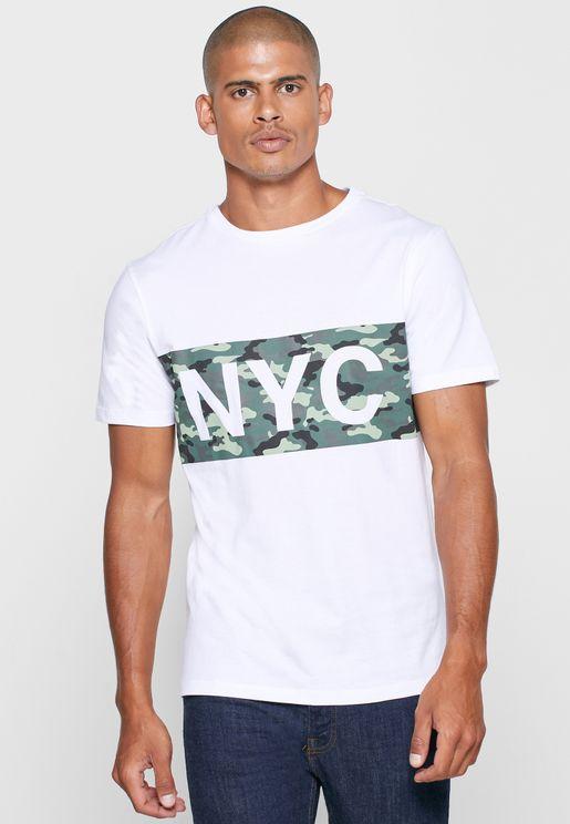 Camo NYC Crew Neck T Shirt