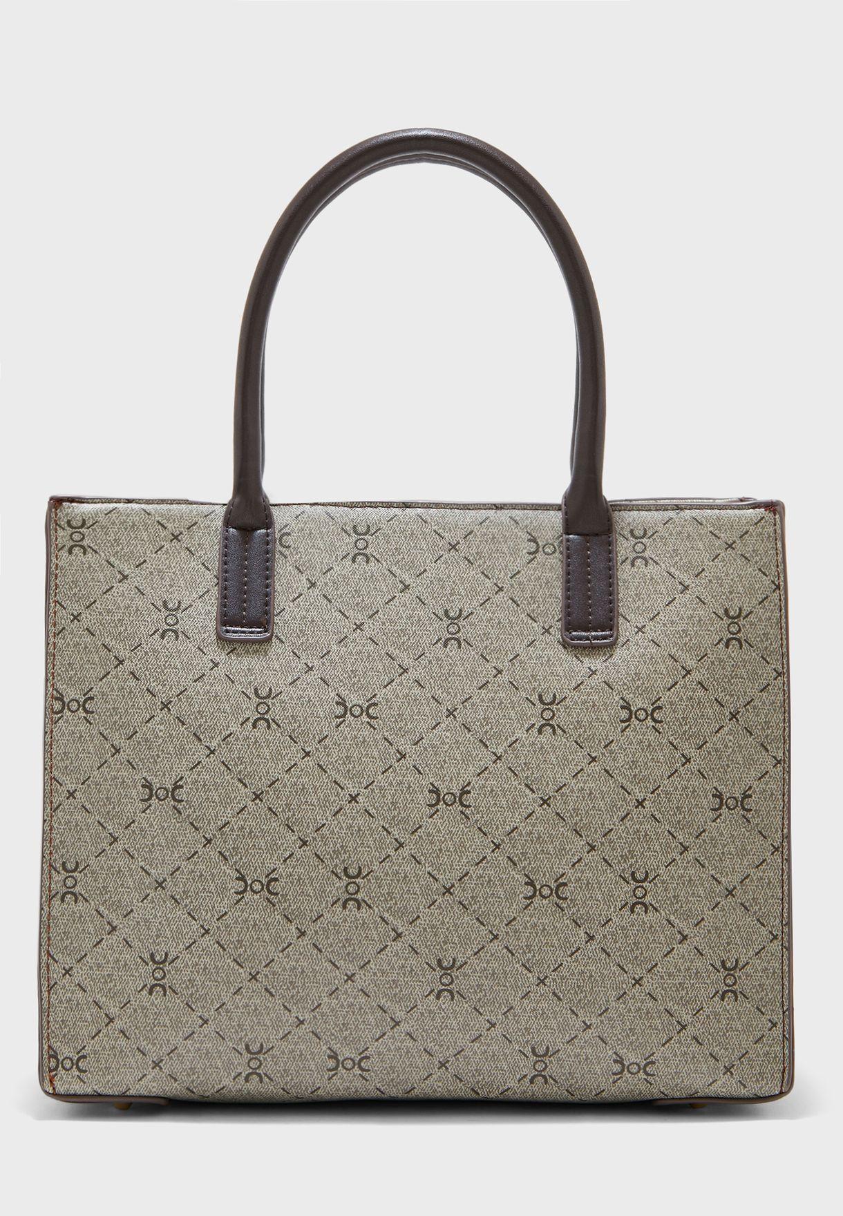 Top Handle Belted Shopper