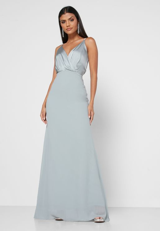 Plunge Back Keyhole Cami Dress