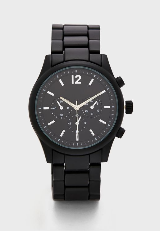 Matt Metal Strap Analogue Watch