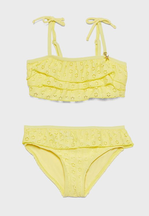 Little Layered Ruffle Detail Bikini Set
