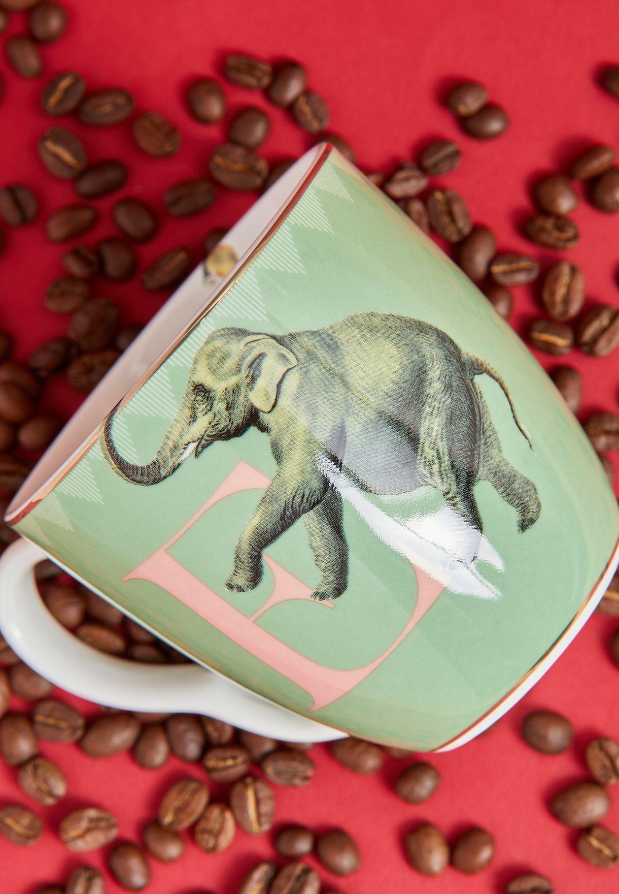 Alphabet Mug - Elephant