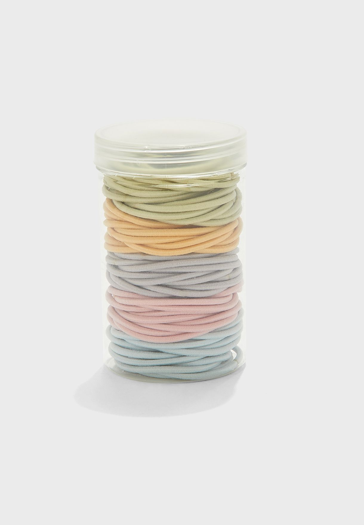 Pack Of 100 Mixed Pastel Coloured Hair Elastics
