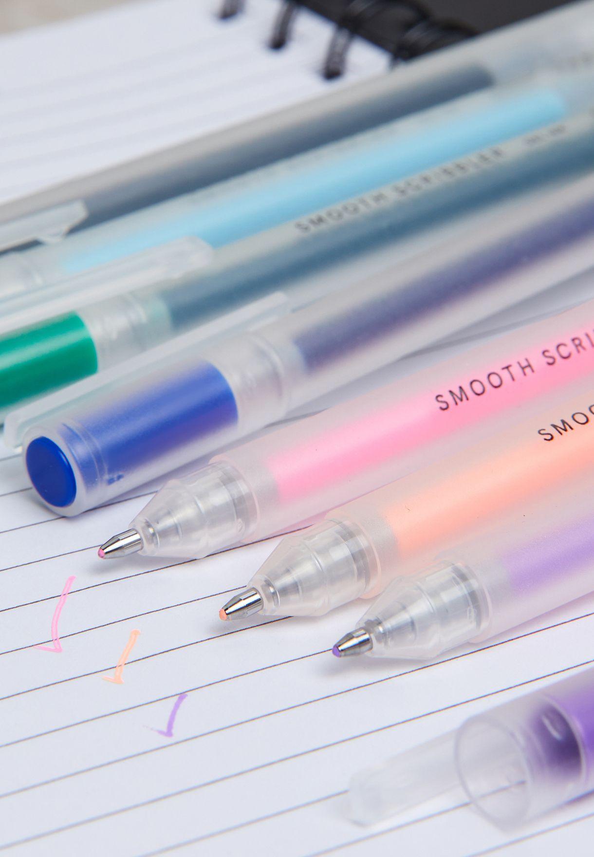 7 Pack Smooth Scribbler Gel Pen