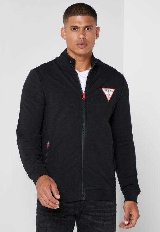 Logo Zip Through Sweatshirt