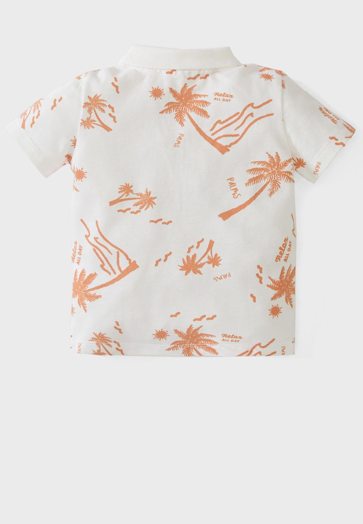 Infant Palm Print Polo