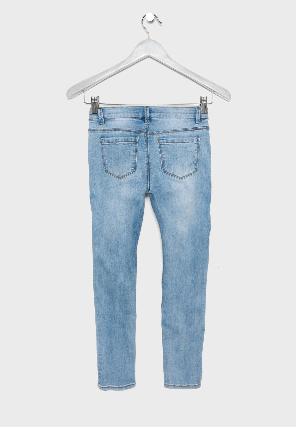 Kids Glitter Side Tape Jeans