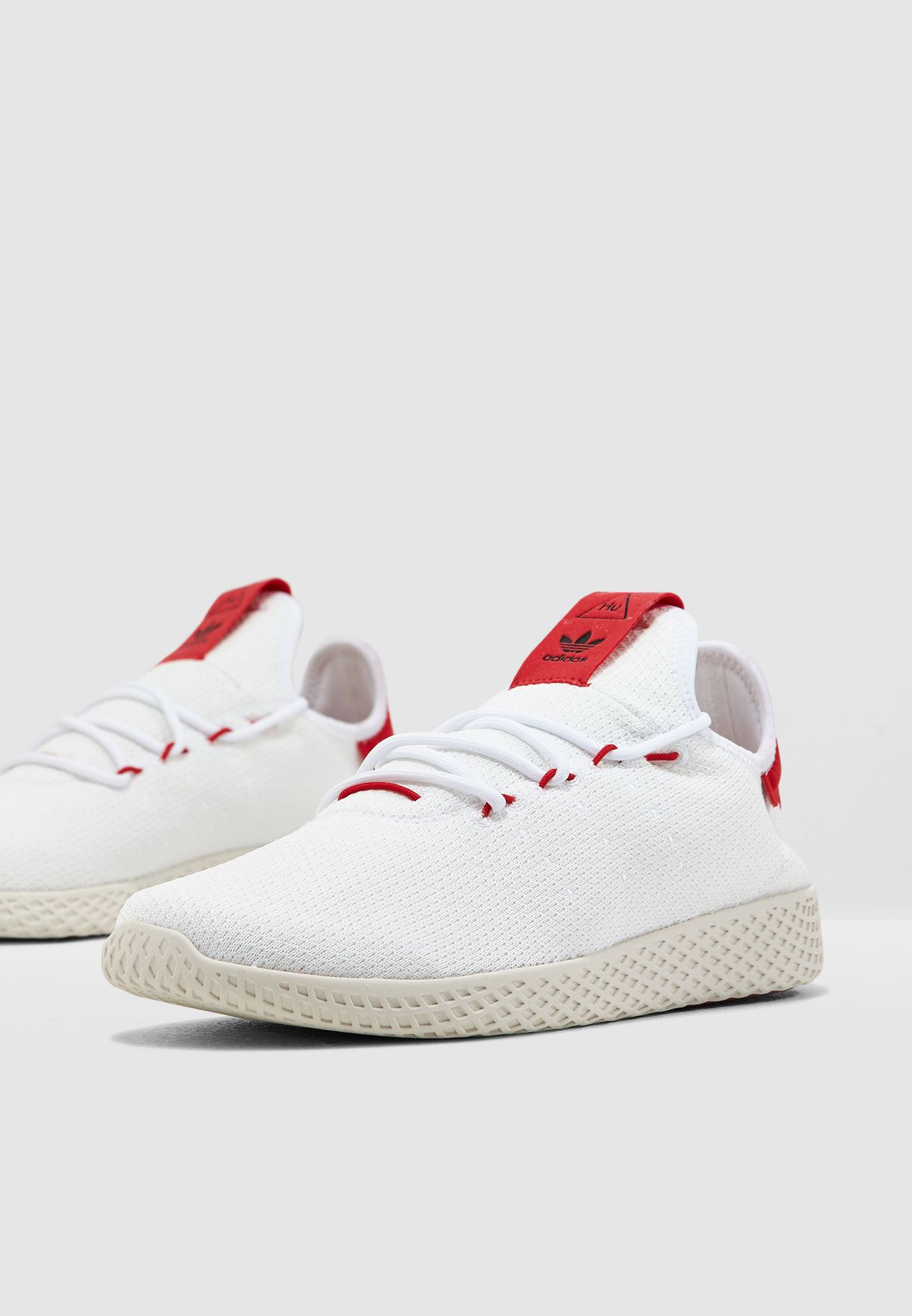 6594fea209ae3 Shop adidas Originals white Pharrell Williams Tennis Hu BD7530 for ...