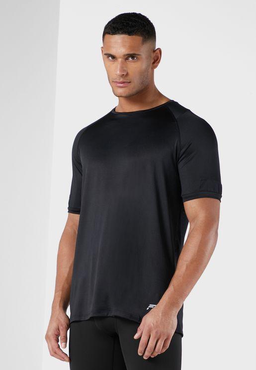 Mesh Panel Training T Shirt
