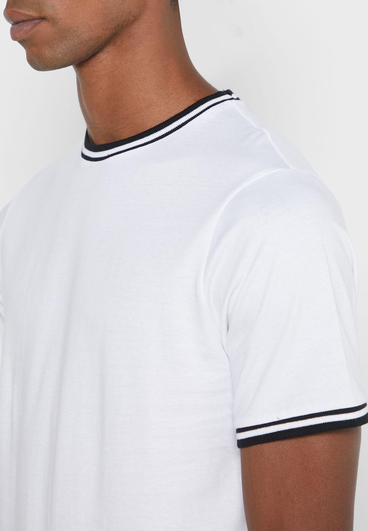 Contrast Rib T Shirt