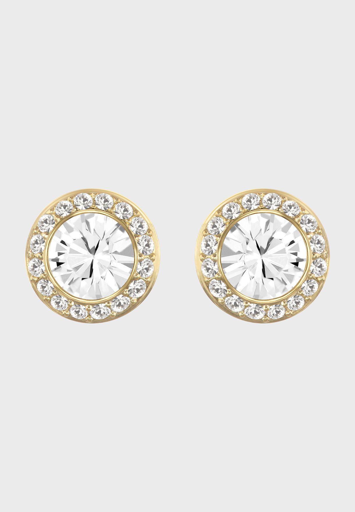 Angelic Round Stud Earrings