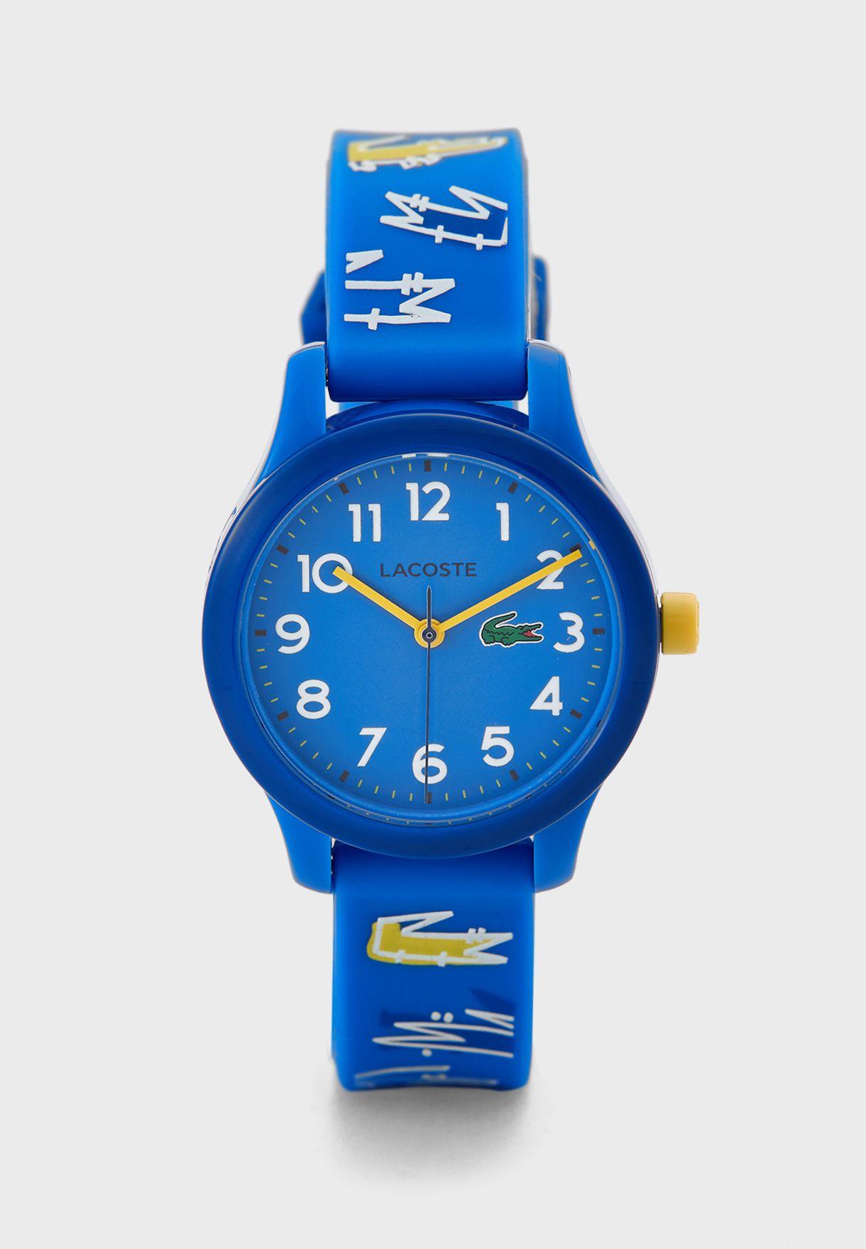 ساعة اطفال مزينة بشعار الماركة