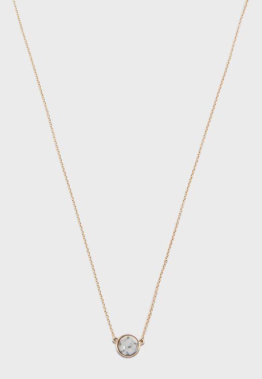 Faux Stone Pendant Necklace