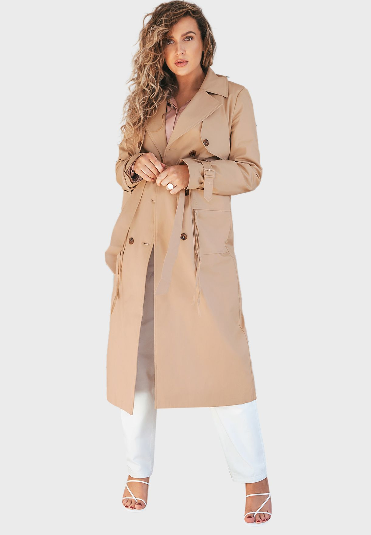 Belted Longline Trench Coat