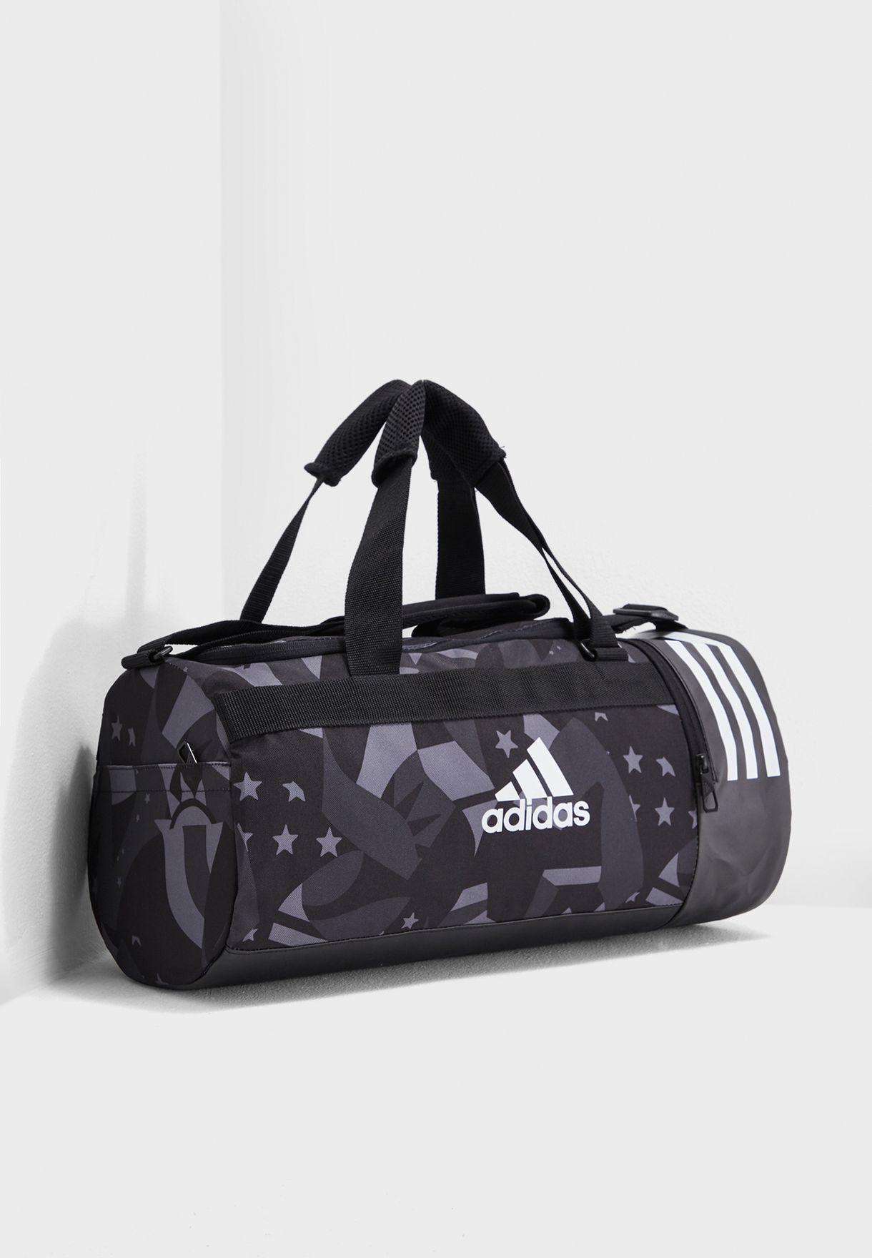 Shop adidas black 3 Stripes Convertable Duffel DT8654 for Men in UAE ... 4b39de354e9c3