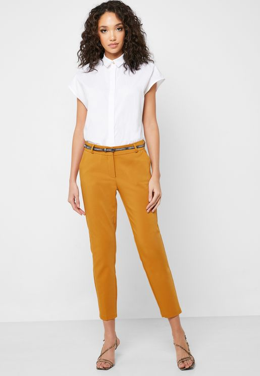 Belted Cigarette Pants