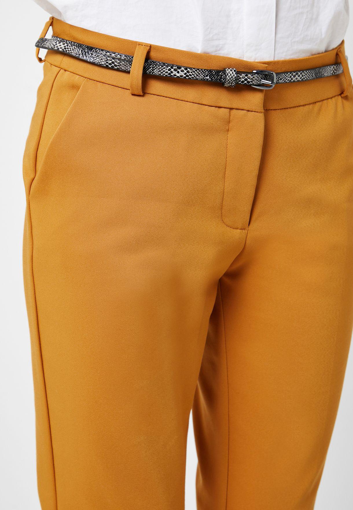 Belted Cigarette Pants