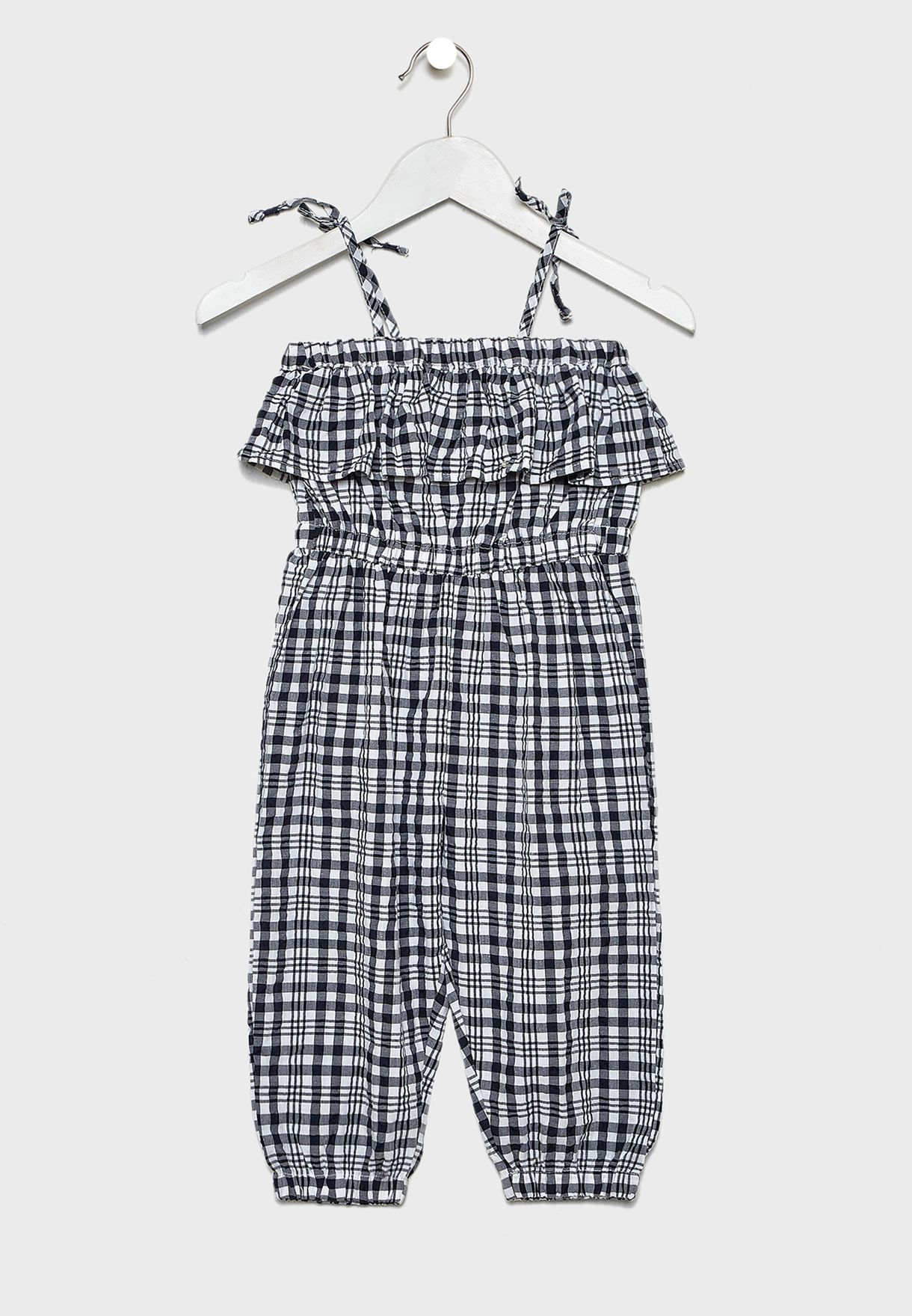 Kids Pascal Checked Jumpsuit