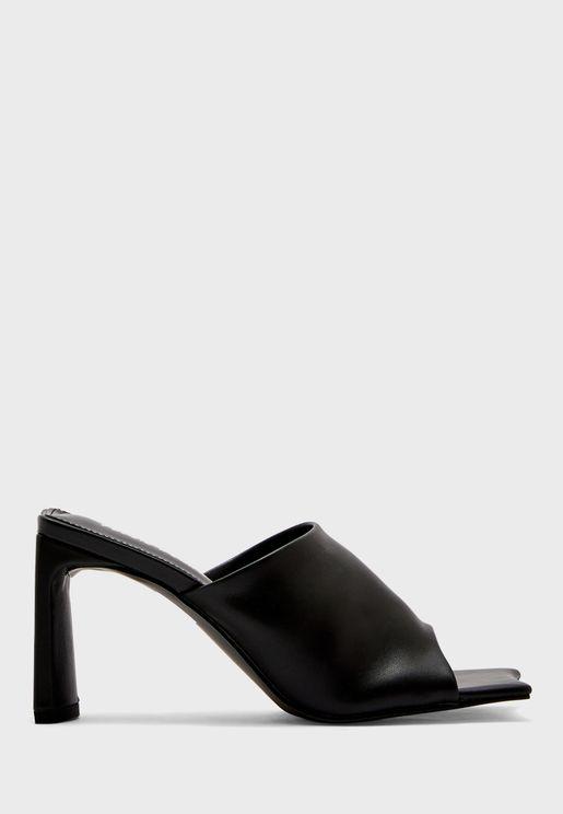 Square Toe Block Heel