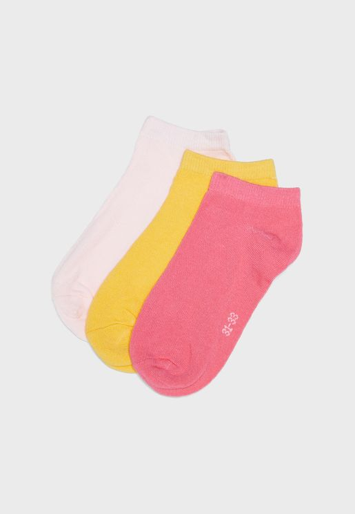Youth 3 Pack Ankle Socks