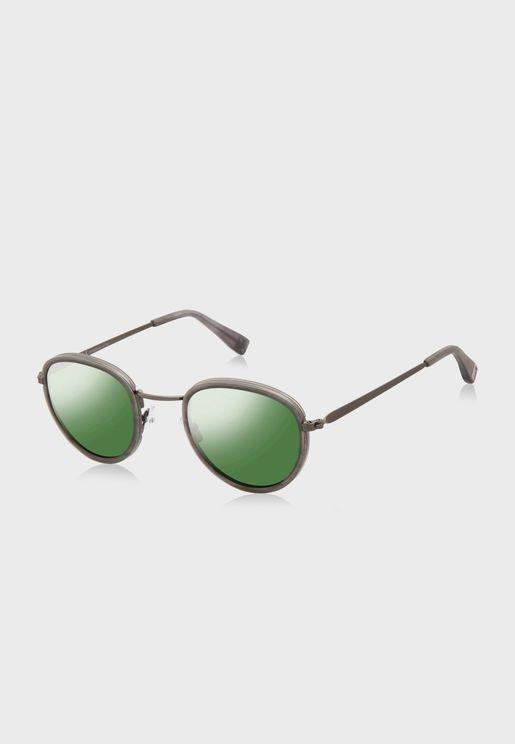 L CO21003 Round Sunglasses