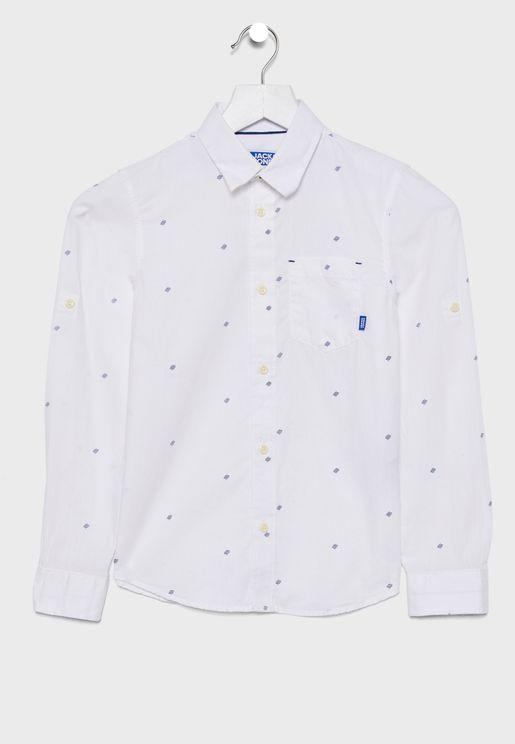Teen Button Down Collar Shirt