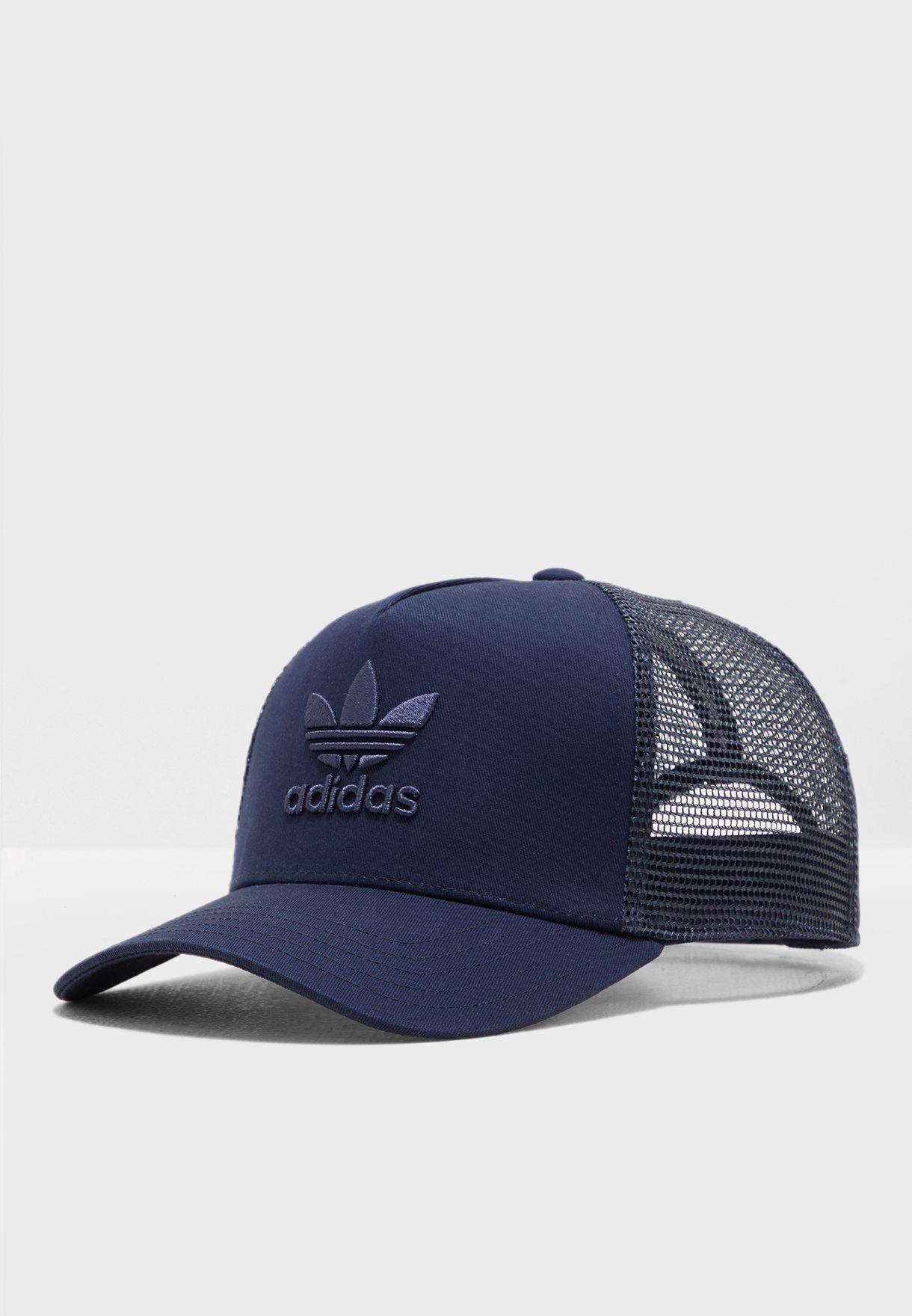 Shop adidas Originals navy Trefoil Trucker Cap DV0169 for Men in UAE ... 7ed189c2b4d