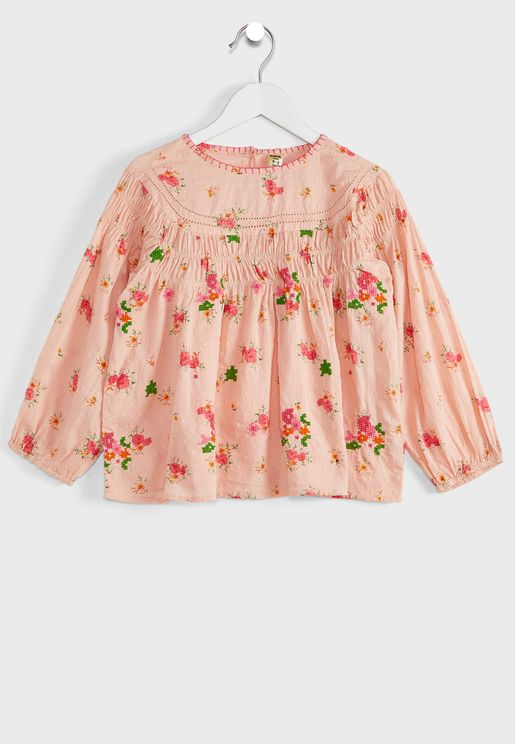 Youth Floral Print Top