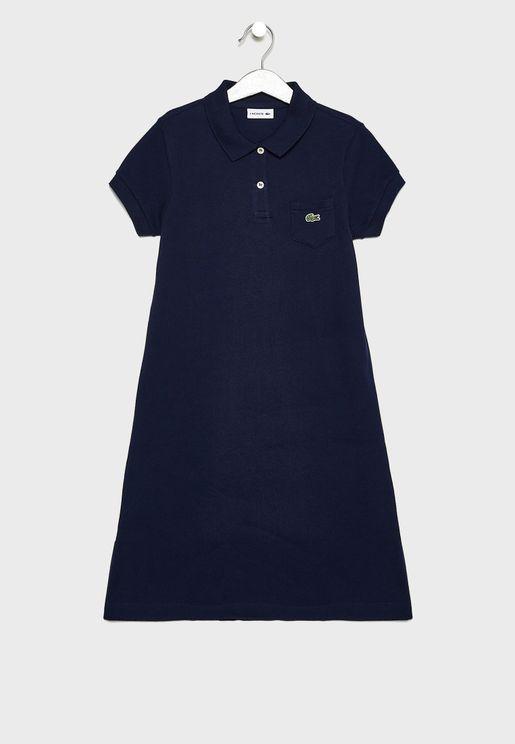 فستان مزين بشعار الماركه